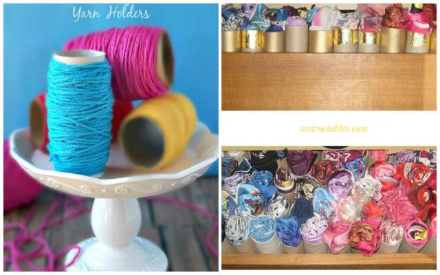 Suport pentru firele de tricotat.