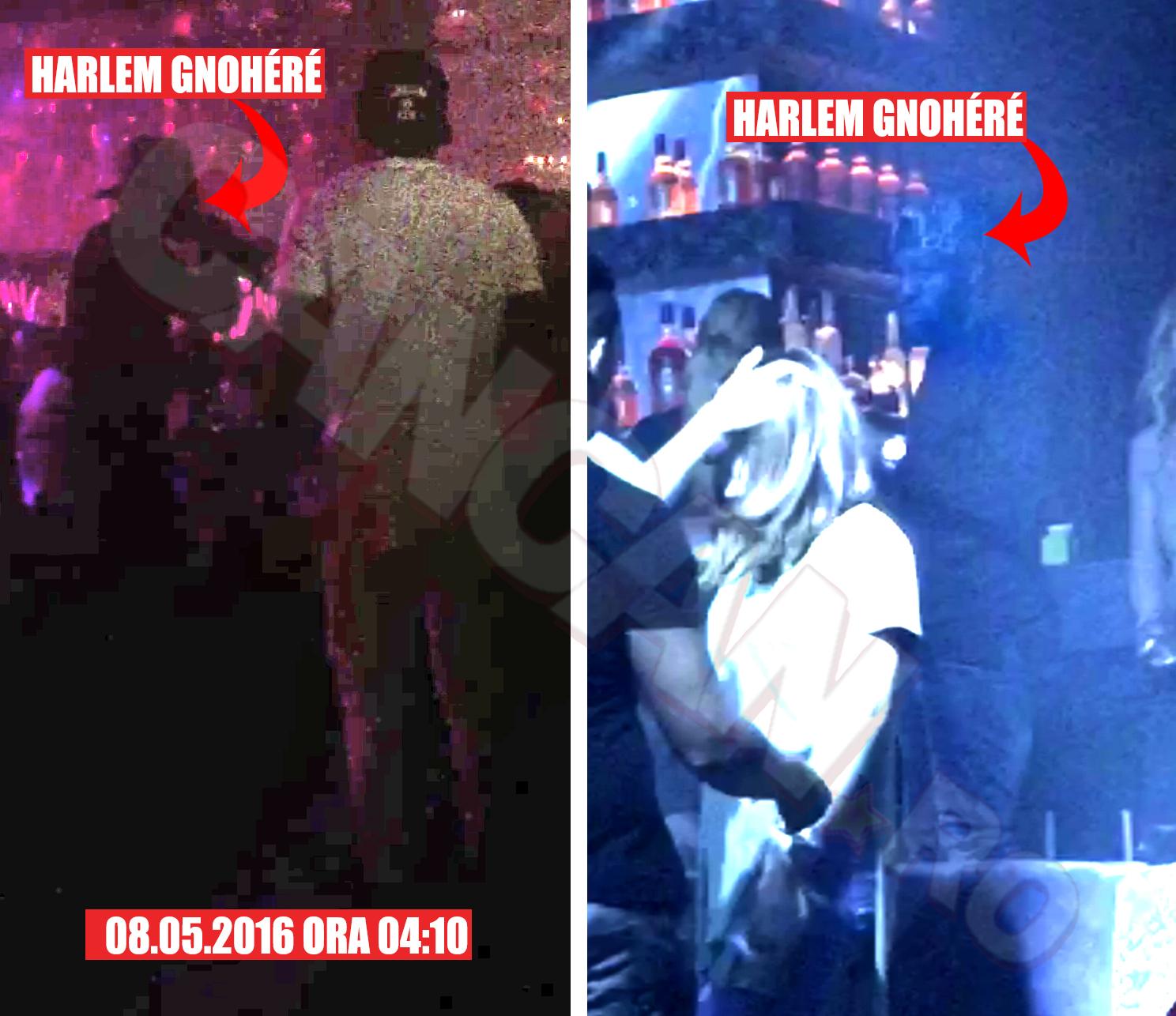 Harlem Gnohere a băut şampanie şi a dansat cu mai multe domnişoare.