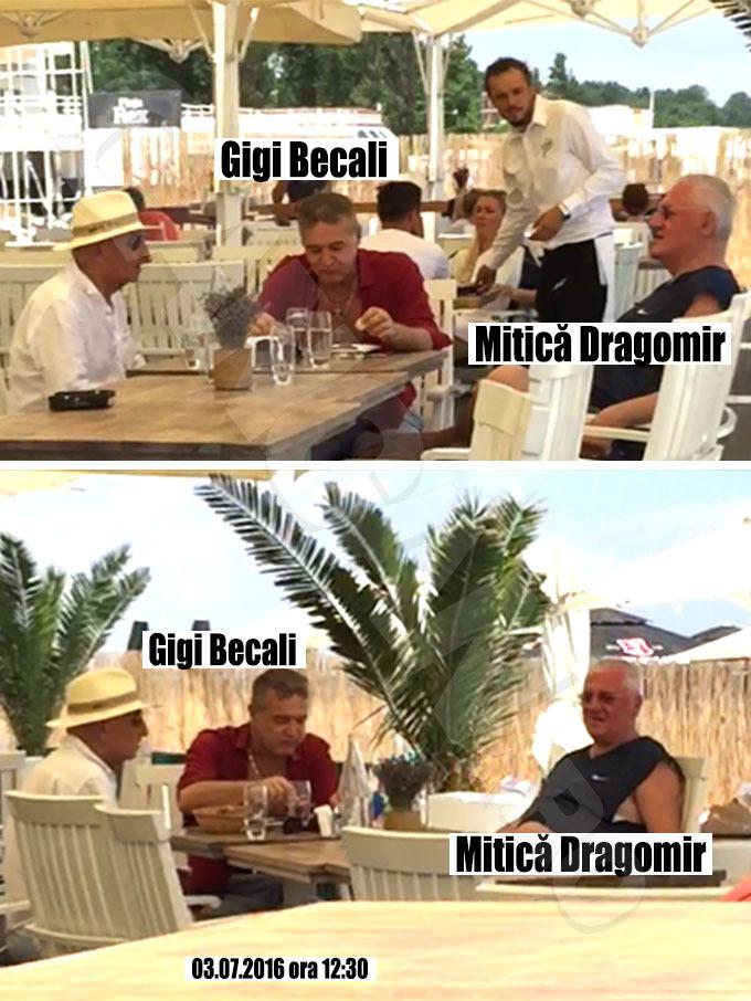 Gigi Becali şi Mitică Dragomir au pus la cale soarta Federaţiei, relaxaţi, pe malul mării