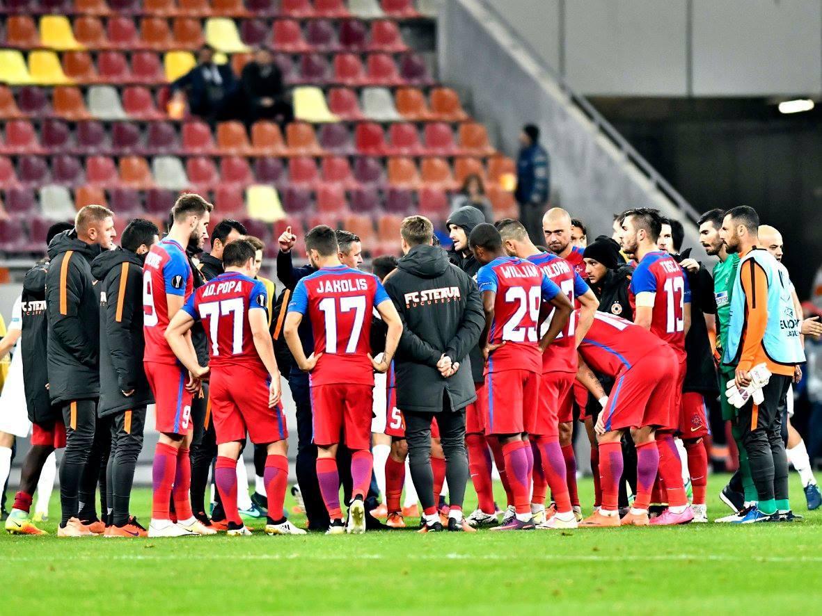 Pe gecile ;i treningurile echipei lui Becali scrie FC Steaua