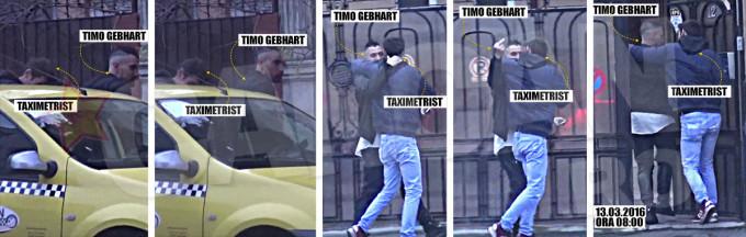 Timo Gebhart era filmat în clipa în care mergea la respectivul salon