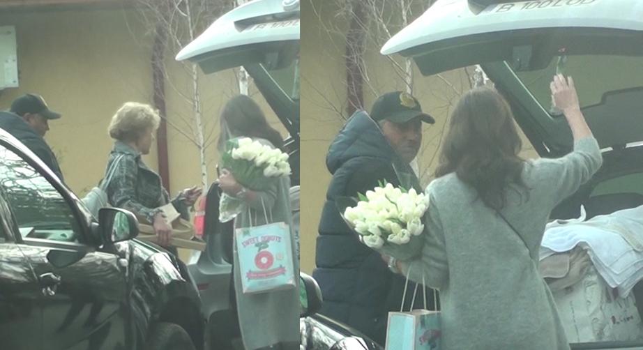 Soţia lui Olăroiu a ieşit dintr-un restaurant cu o prietenă şi şoferul ei.