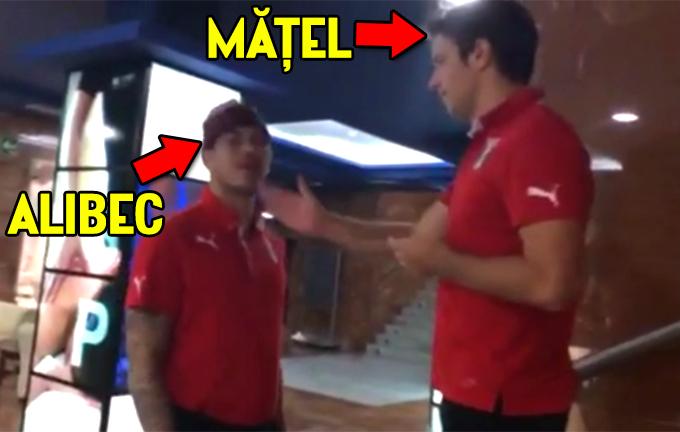 Alex Matel si Denis Alibec au fost filmati batandu-se si injurandu-se de colegul lor, Constantin Budescu