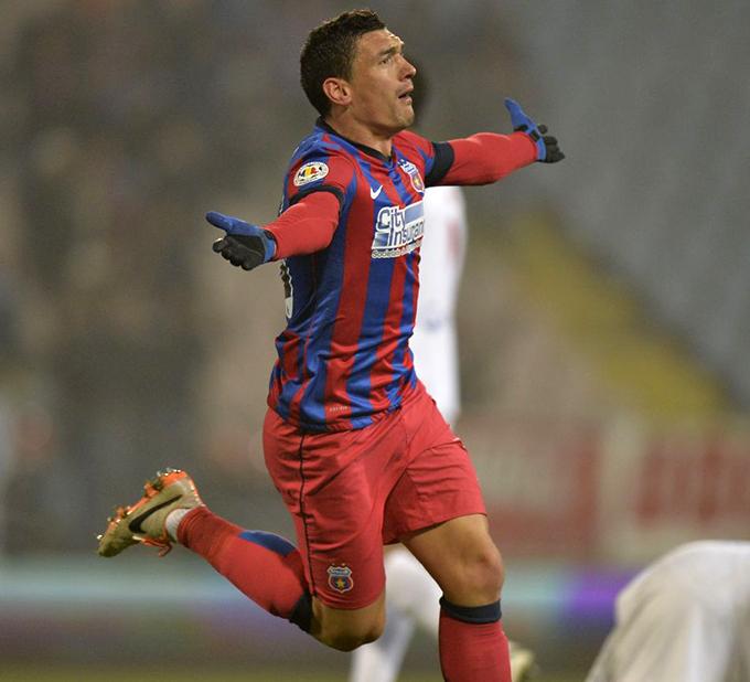 Claudiu Keseru, sarbatorind golul marcat in derby-ul cu Dinamo