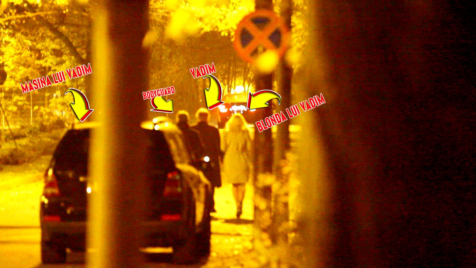Dupa ce au luat cina intr-un local select, Vadim si blonda misterioasa au pornit la pas prin Parcul Herastrau