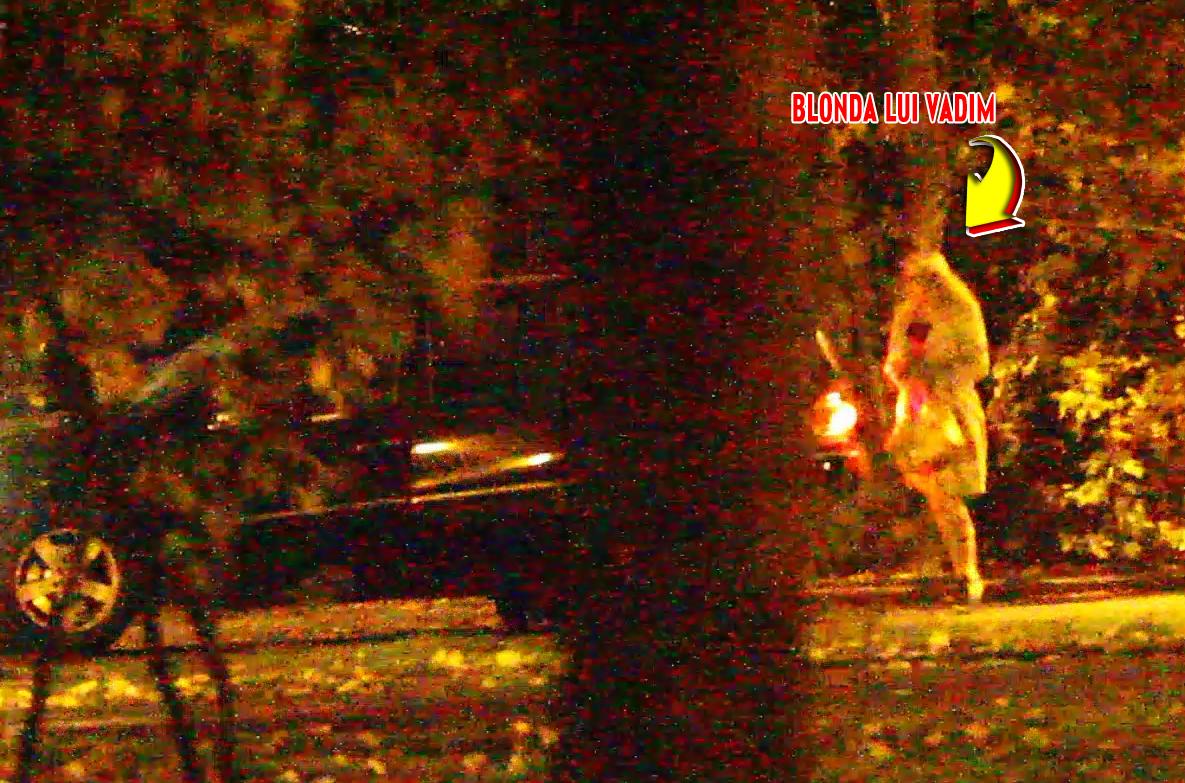 Dupa plimbare, blonda a urcat in masina lui Vadim
