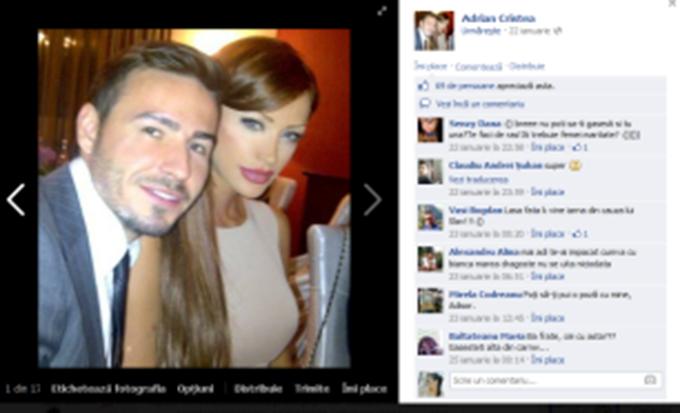 Adrian Cristea si-a setat, ieri, o imagine cu Bianca la profil