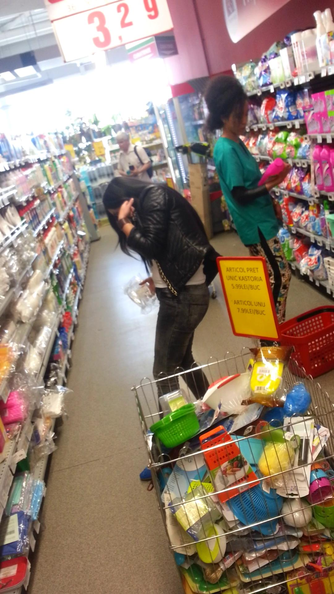 Ana Velea, la supermarket