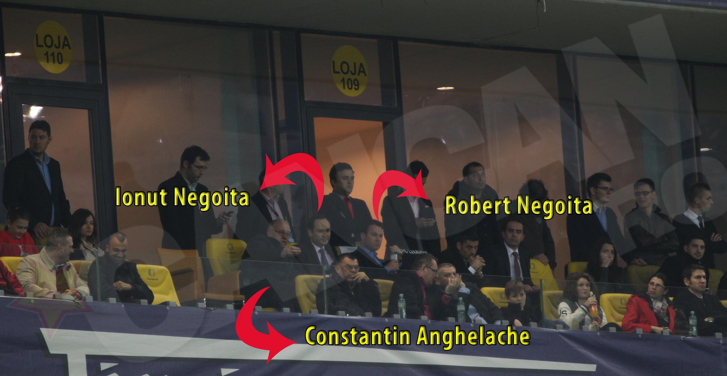 Constantin Anghelache a vazut meciul alaturi de Ionut si Robert Negoita