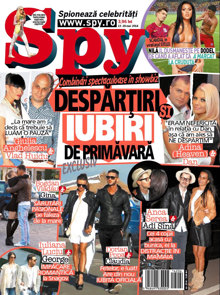Ultimul numar al reviste Spy anunta despartirea