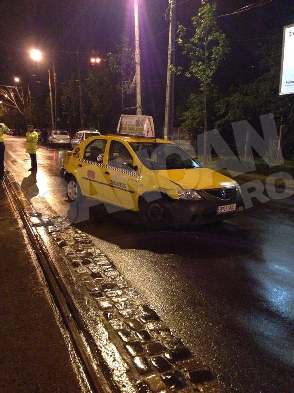 Accidentul s-a petrecut la intersectia bulevardelor Basarabia cu 1 Decembrie