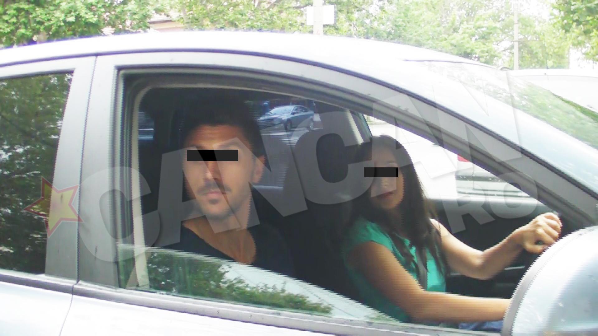 Fostul iubit al Ilincai Vandici a fost intampinat de o tanara, care l-a dus acasa cu masina
