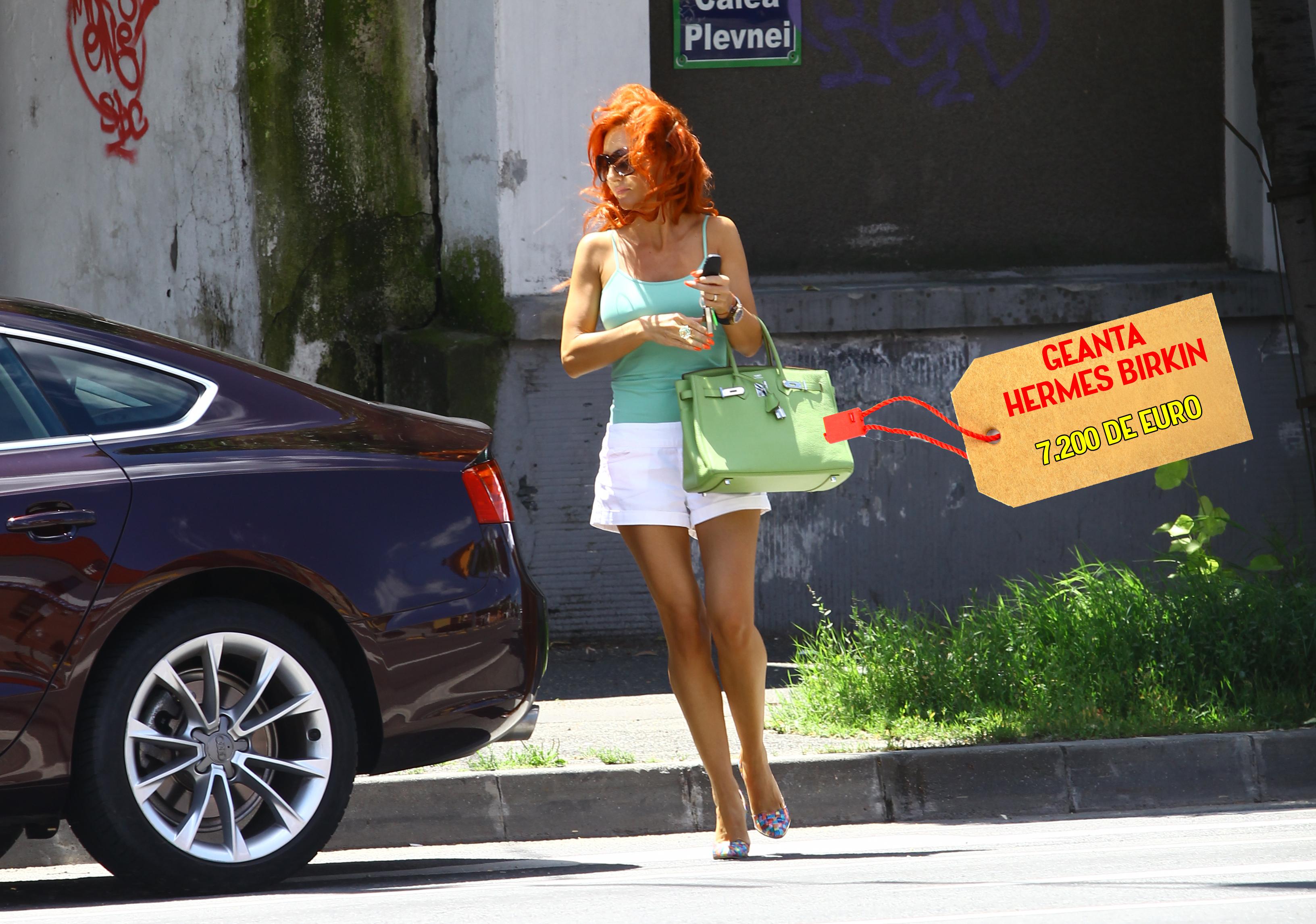 Sotia lui Axinte a scos la cumparaturi, intr-un magazin de cartier, o geanta de peste 7.000 de euro