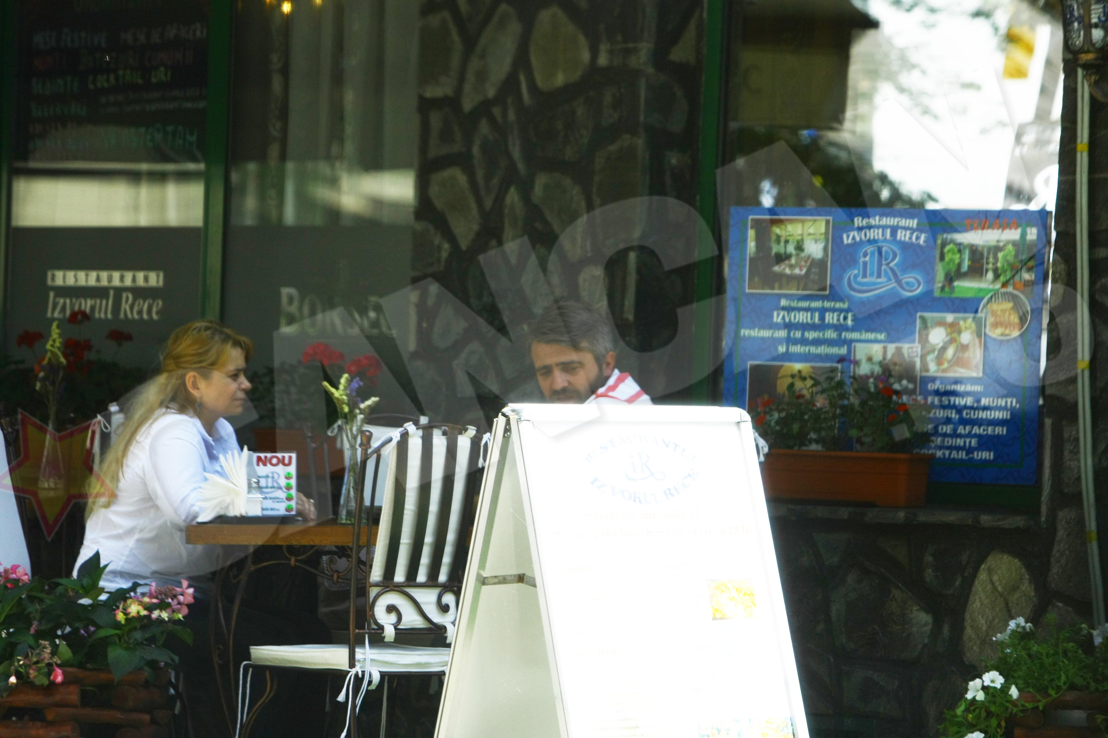 Anca Sigartau si Alin Panc s-au intalnit la o terasa din centrul Capitalei