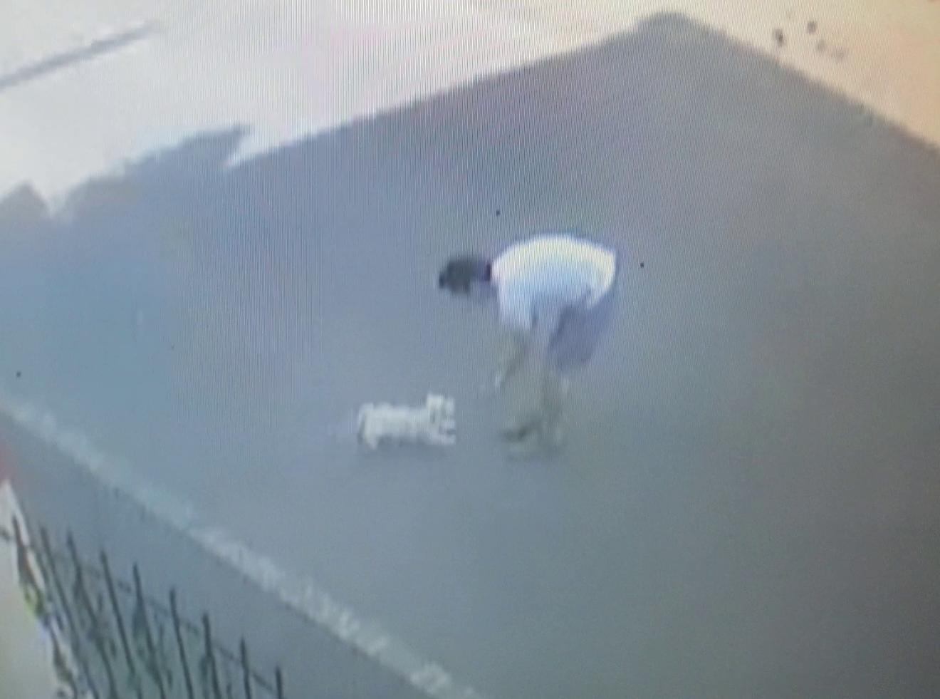 Unul dintre rapitori se joaca cu Bijoux, incercand sa-l atraga cat mai aproape de el