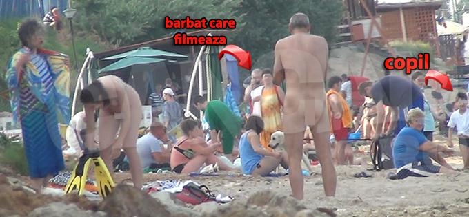 La un moment dat, un barbat s-a oprit sa filmeze intreaga scena