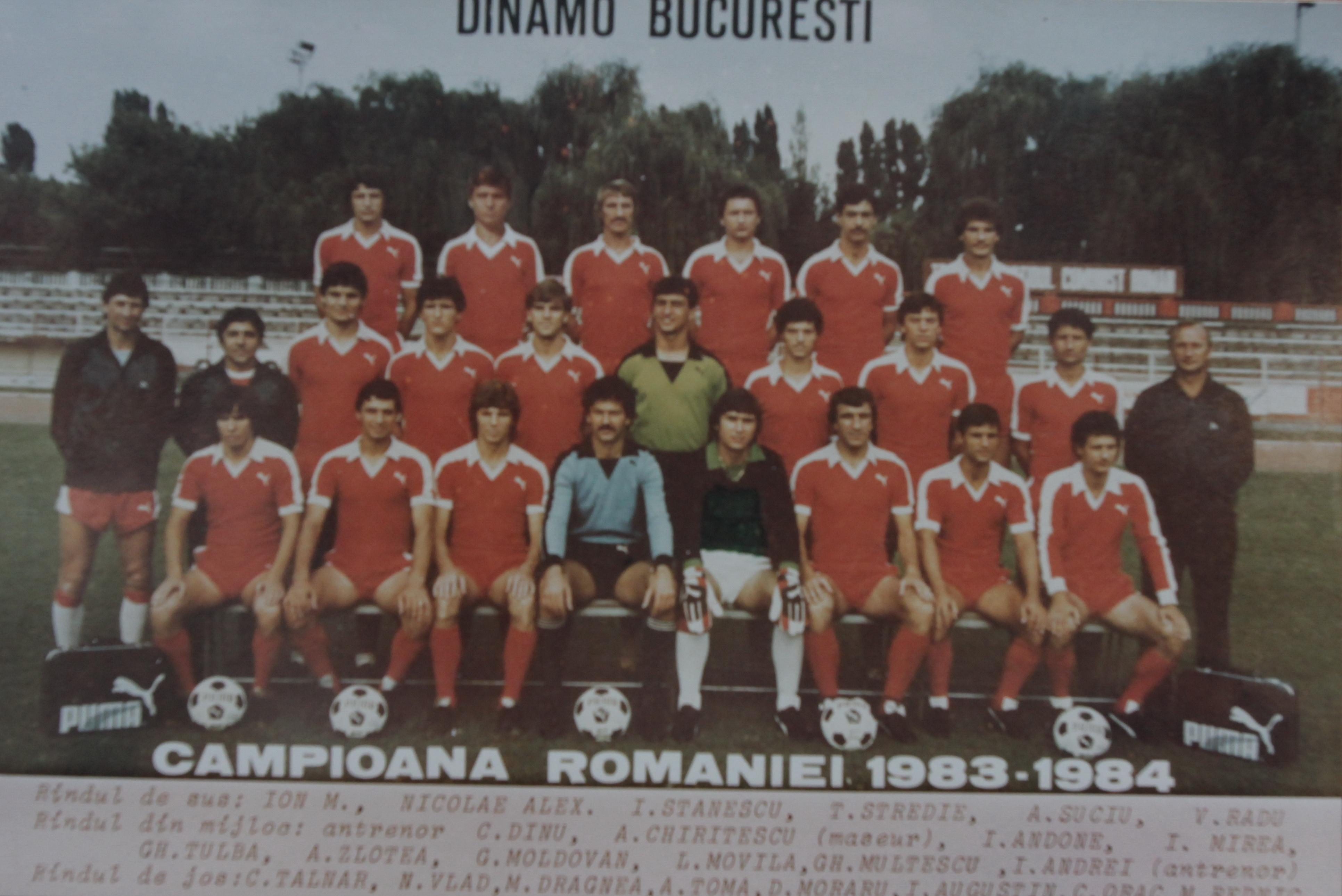 Lotul lui Dinamo in sezonul 1983-1984