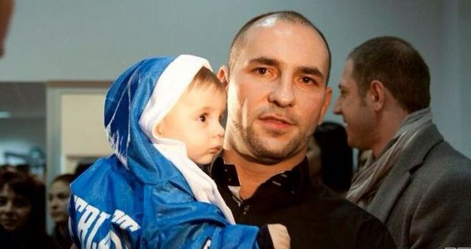 Luptatorul Ciprian Sora si fiul sau Erick Alexandru