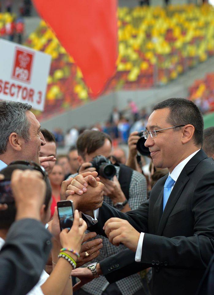 Victor Ponta este foarte popular, iar romanii il sustin in numar foarte mare