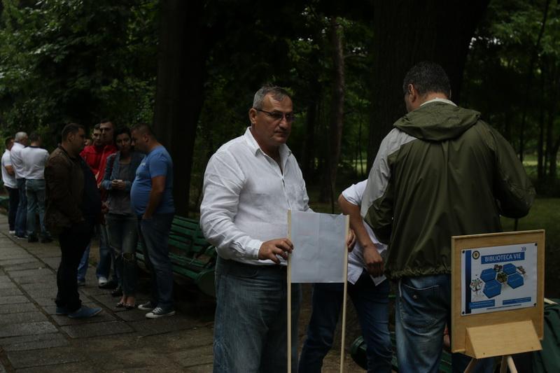 Mihai Bucurenciu a fost unul dintre cei mai activi detinuti prezenti in cadrul actiunii din parcul Herastrau