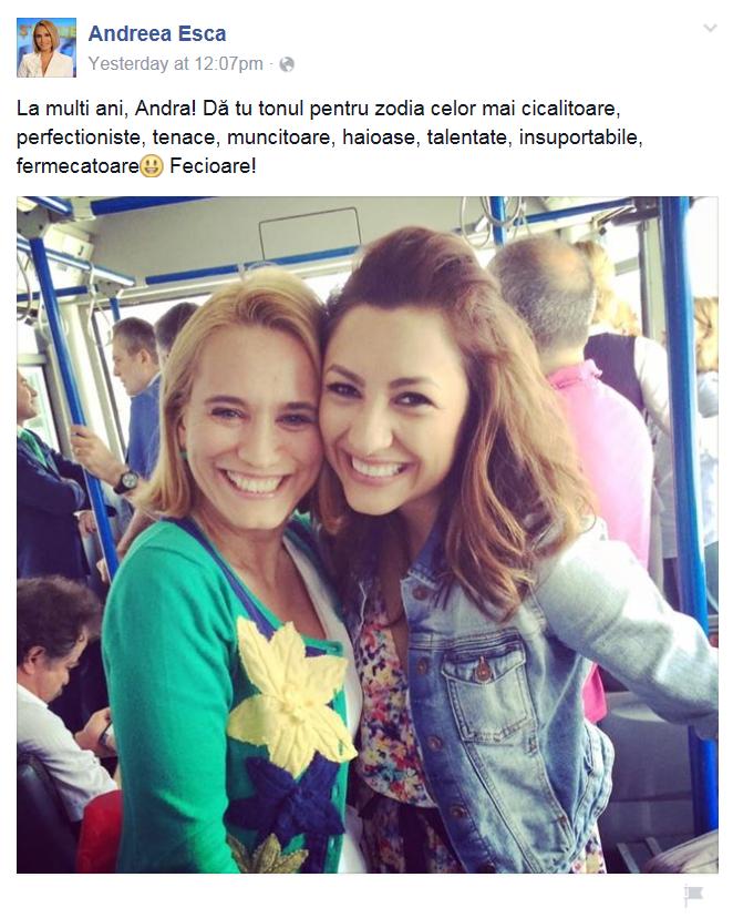 Andreea si-a inceput duminica in autobuz, cu Andra