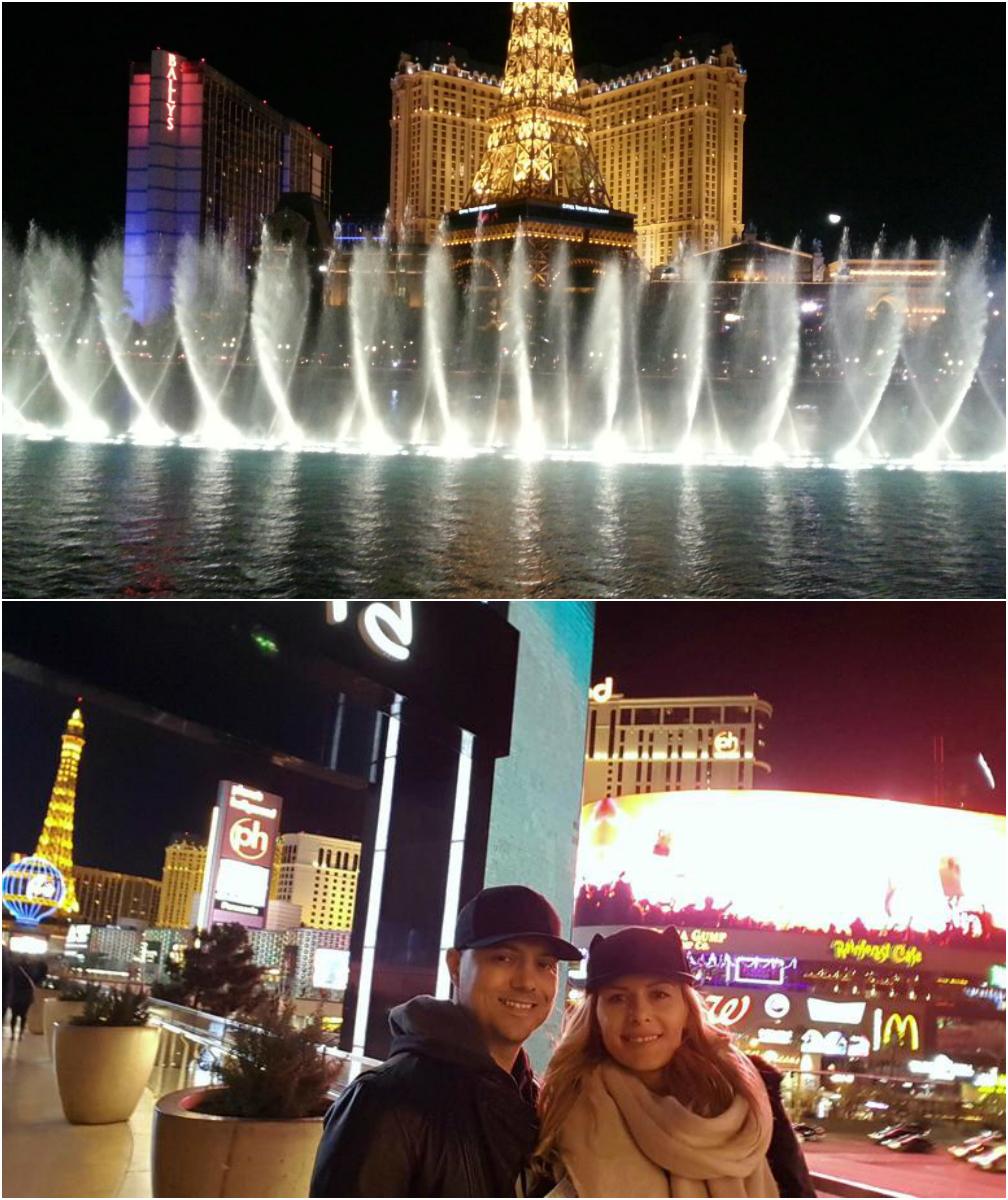 Dan Badea şi Mădălina au mers în Las Vegas (foto jos), iar în 2013 actorul o ducea şi pe Lora în acelaşi loc (foto sus) - artista încă mai are imaginea pe contul său de Facebook