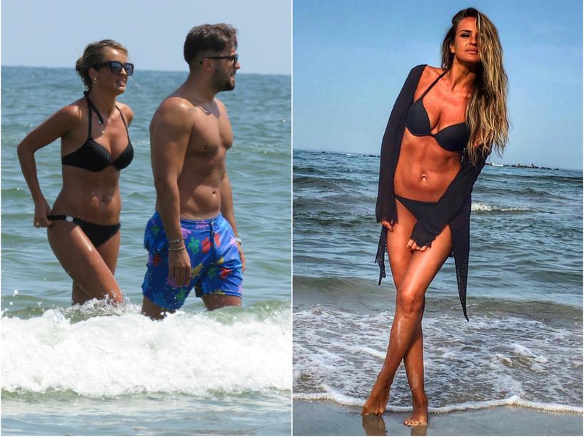 """Diana Munteanu şi """"Bi"""" s-au distrat vara trecută la malul mării"""