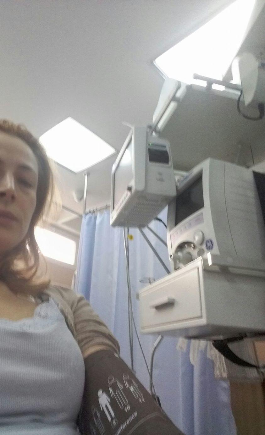 Monica Davidescu a ajuns la spital.