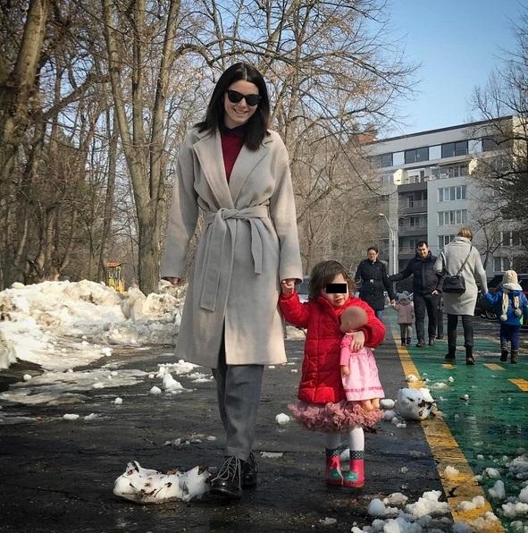 Anca Lungu, împreună cu fiica ei