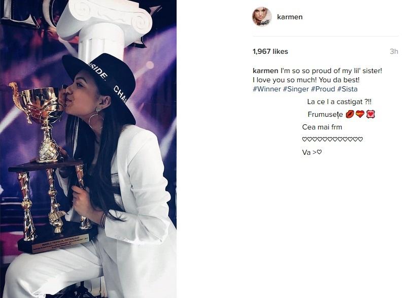 Adriana Minune a câştigat trofeul la o competiţie muzicală