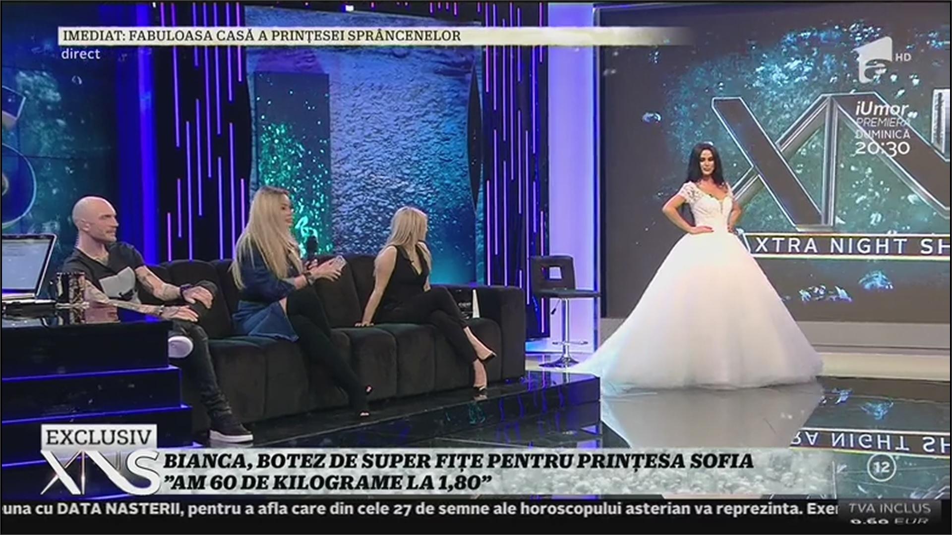 Daniela Crudu a apărut îmbrăcată în rochie de mireasă, în direct