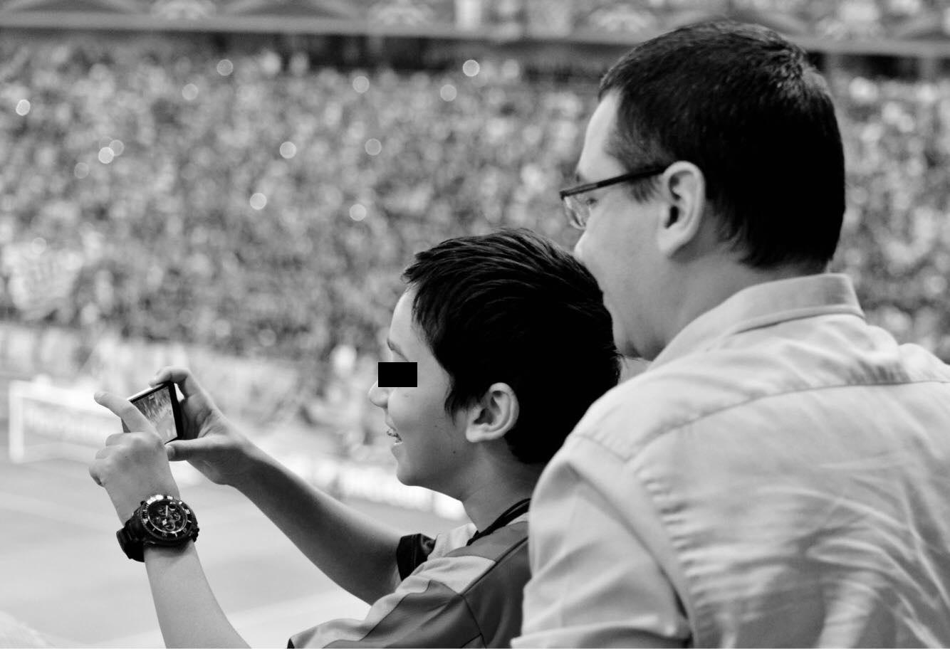 Victor Ponta, împreună cu fiul lui, Andrei