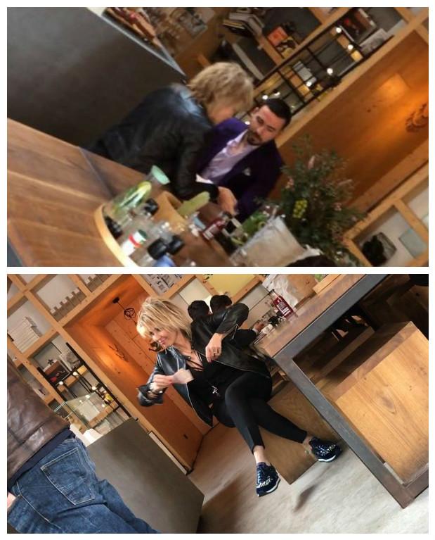 Adrian Cristea şi Maria Păuna au ieşit în miezul zilei, la o cafenea.