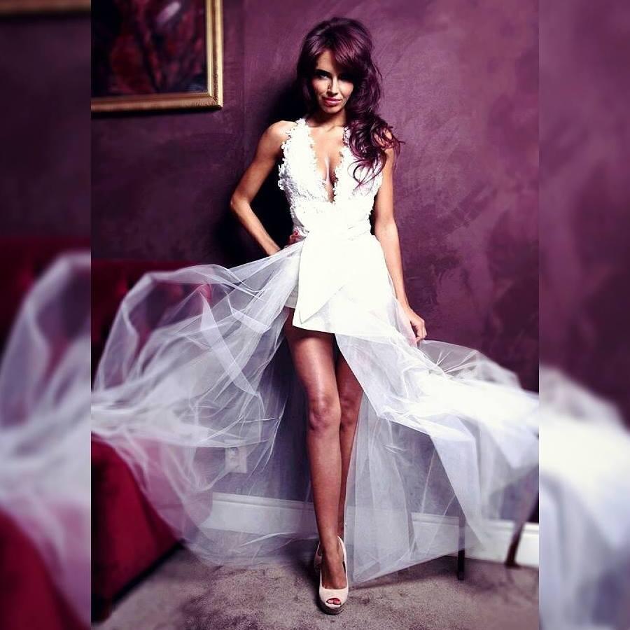 Diana Georgescu a îmbrăcat rochia de mireasă.