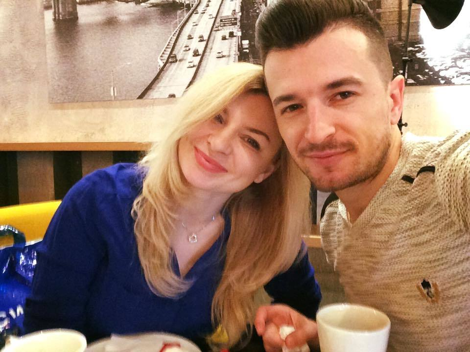 Radu Sîrbu, împreună cu soţia lui, Ana