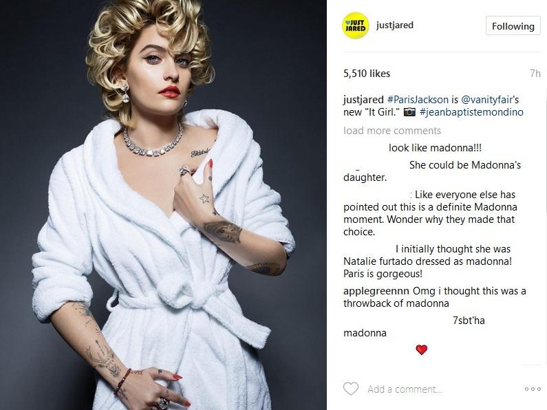 Paris Jackson s-a transformat în sosia Madonnei