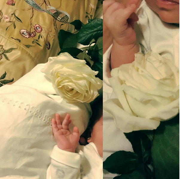 The Madonna Ghenea girl came to the world at the beginning of April