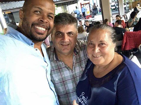 Cabral, alături de mama lui şi de tatăl Andreei Ibacka.