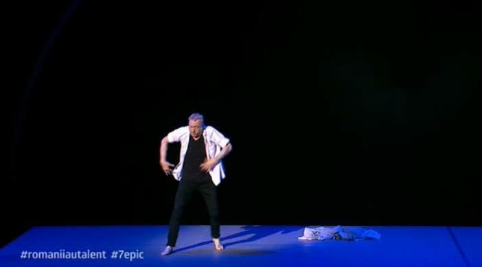 Gigi Căciuleanu a făcut balet în direct