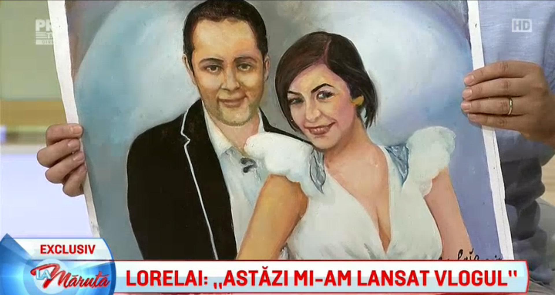 Lorelai i-a dăruit lui Cătălin Măruţă un tablou ce îi înfăţişează pe realizatorul TV şi pe soţia acestuia, Andra