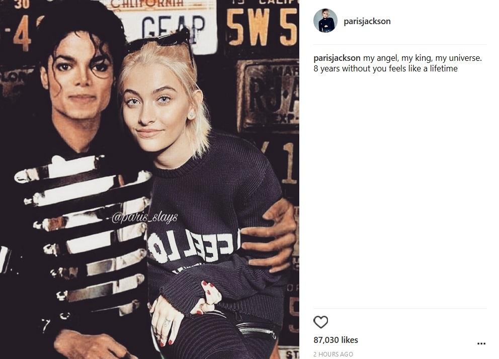 Paris Jackson, mesaj sfâşietor pentru tatăl ei, regretatul Michael Jackson