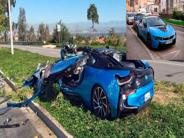 Maşina cu care Luis Fonsi ar fi făcut accident.