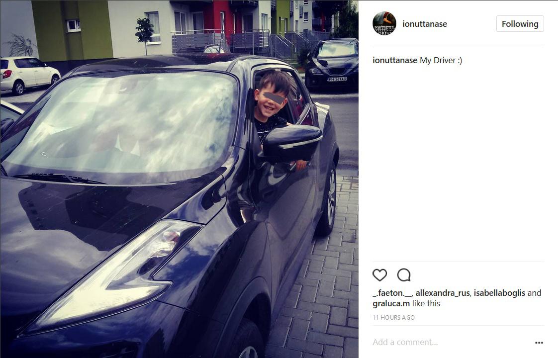 Ionuţ Tănase este foarte mândru de fiul său, care se joacă în automobilul familiei