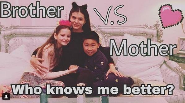 Monica Gabor, împreună cu cei doi copii