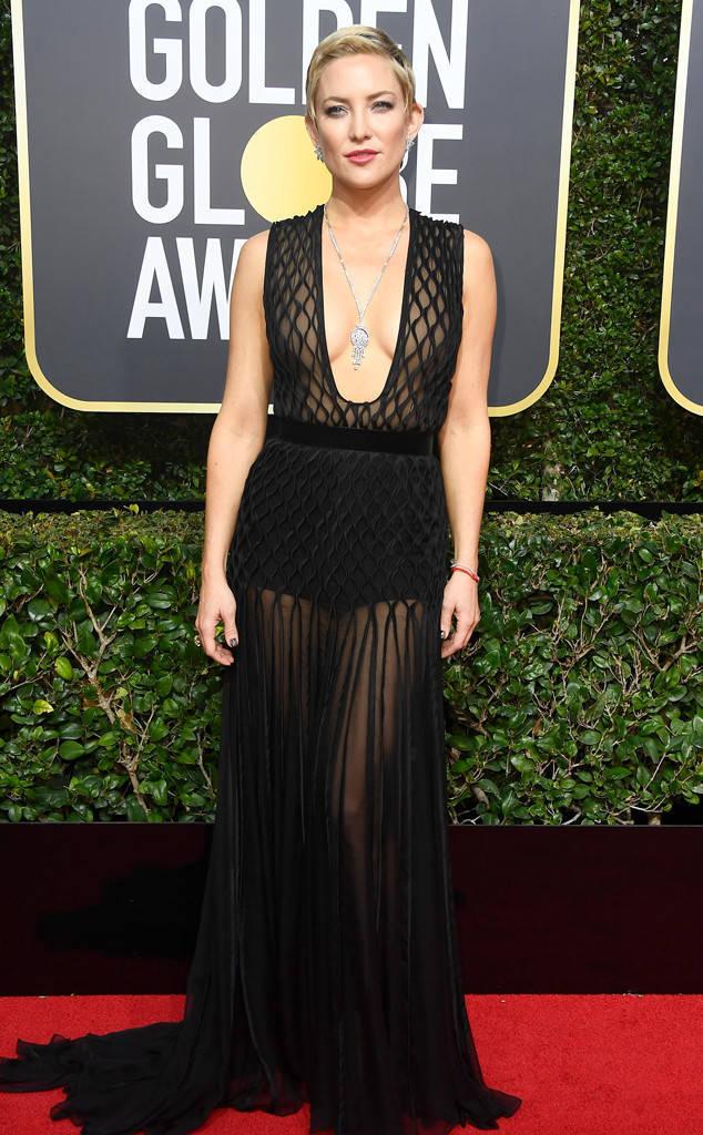 Kate Hudson, pe covorul de la Globurile de Aur 2018