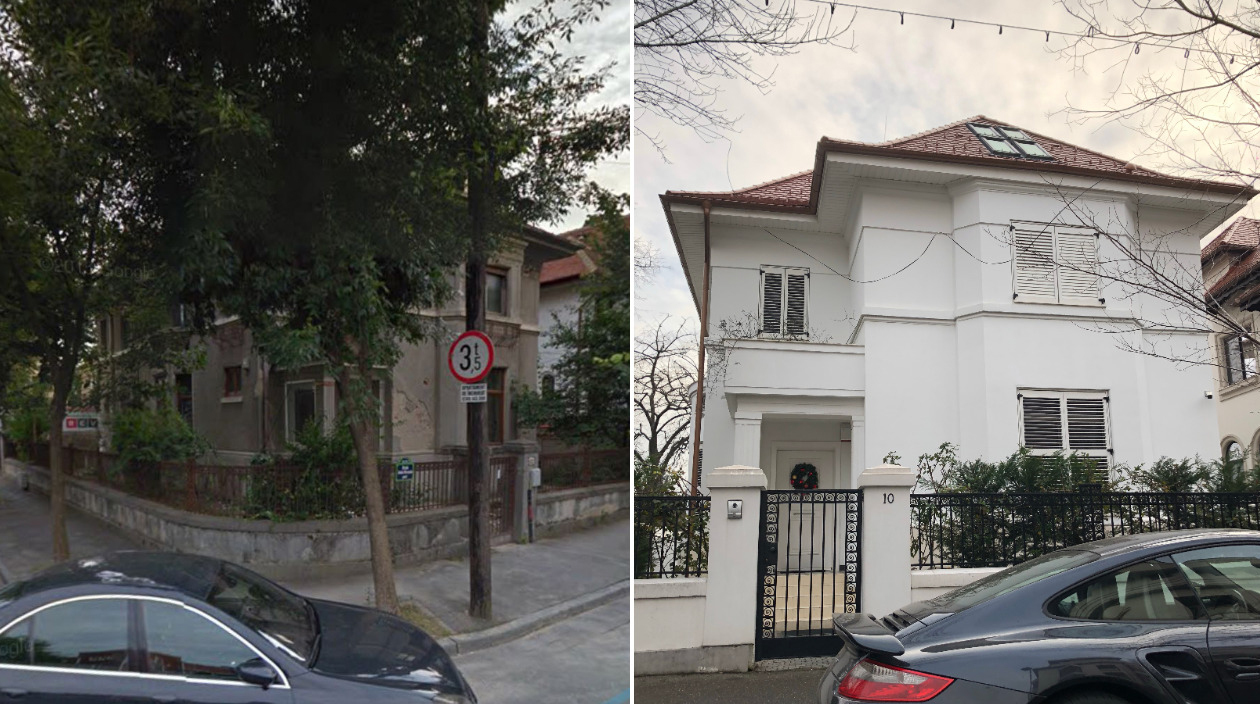 Matei Stratan's villa before and after the millionaire bought it and renovated it