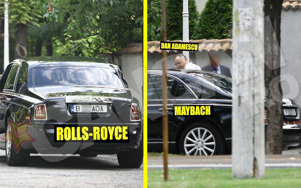 Nu doar copiii miliardarului au în garaj maşini ultra-scumpe, ci şi omul de afaceri. Printre multele limuzine ale lui, Dan Adamescu a avut şi Rolls-Royce sau Maybach