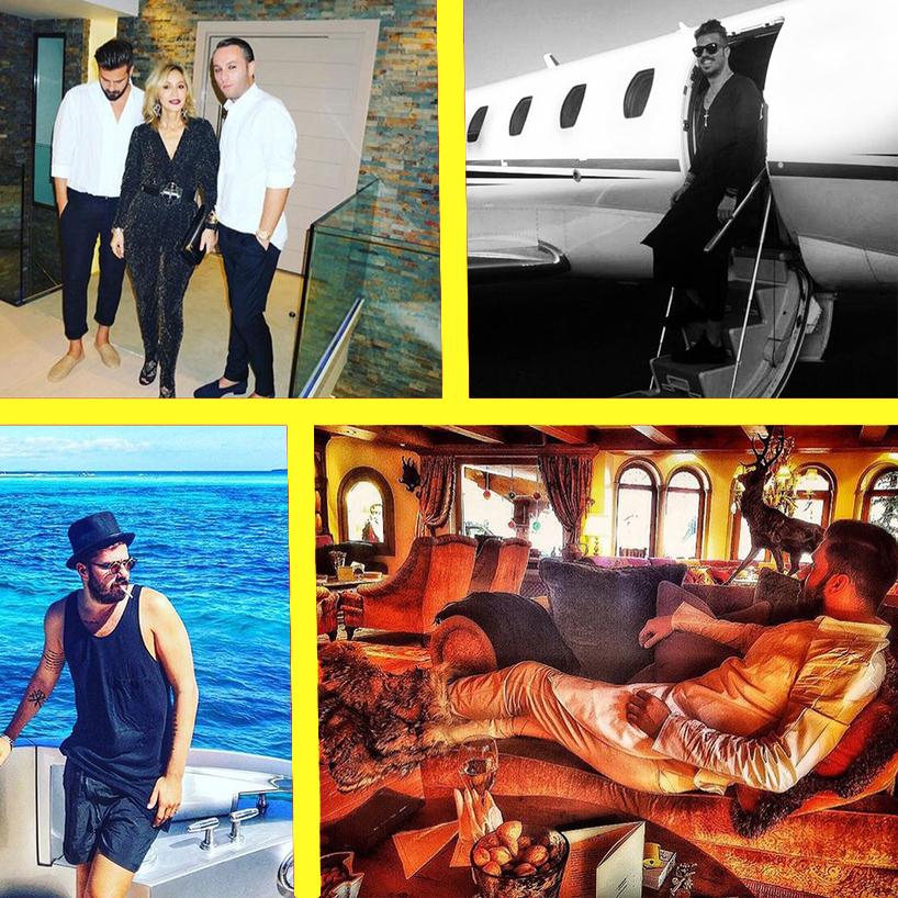 Rani îi înnebuneşte efectiv pe cei 800 followerşi de pe Instragram cu foto-detalii din viaţa lui de nabab: multiple cadre din avionul privat, de pe yacht, din faţa vilei închiriate din St. Barth. Într-una dintre poze apare şi Anastasia Soare, zisă