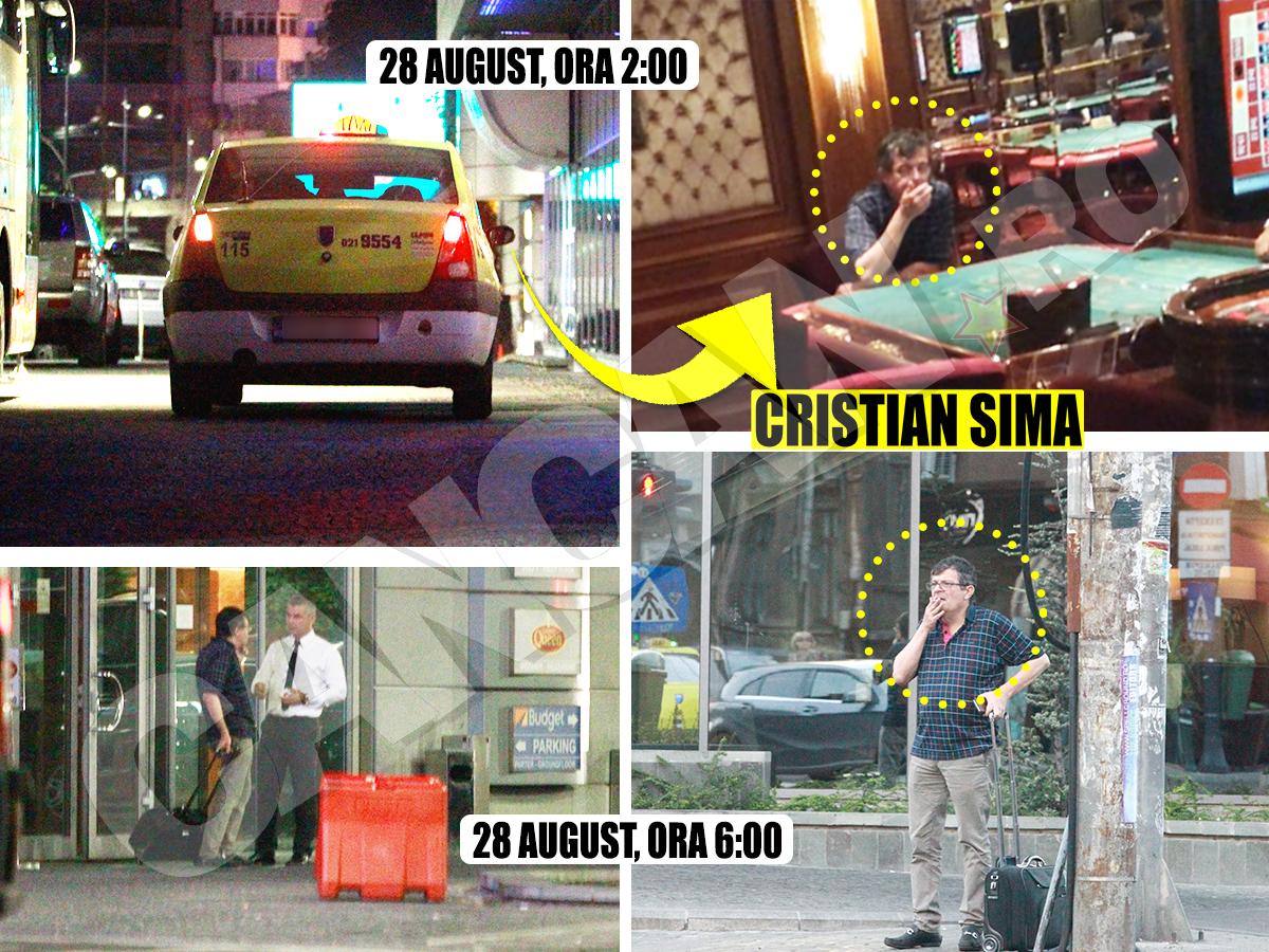 Brokerul fugar a ajuns cu un taxi, duminică dimineaţă în jurul orei 2.00, la cazinoul hotelului Sheraton. Acolo a rămas aproape 4 ore şi a câştigat 1.500 de euro la poker şi ruletă