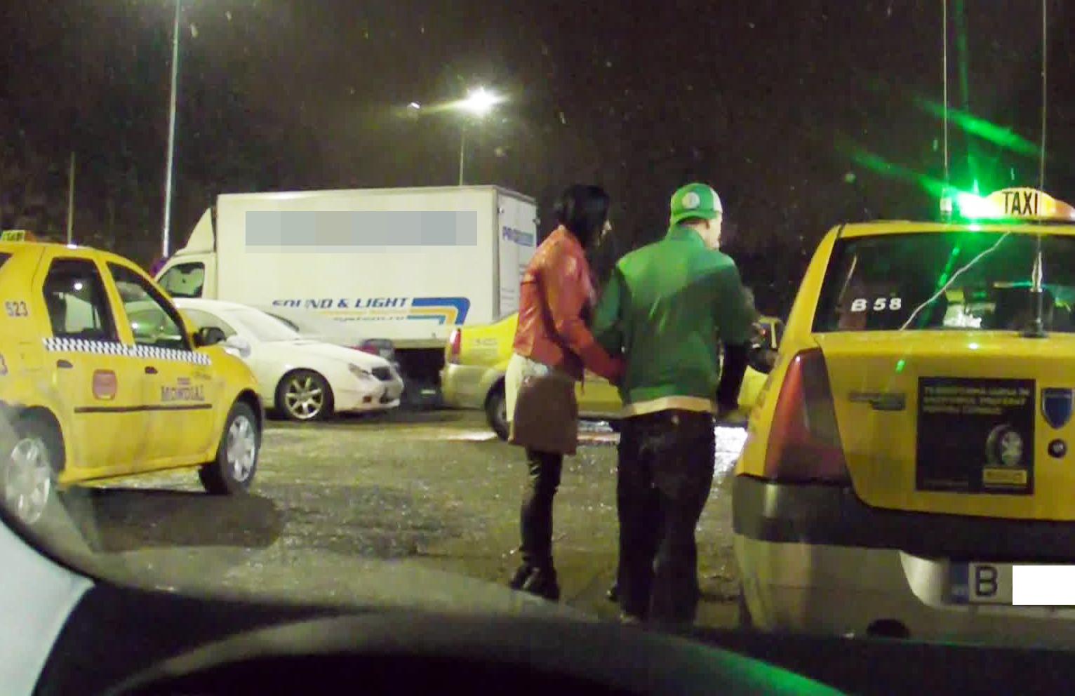 Puya incearca sa-l convinga pe taximetrist sa il duca acasa